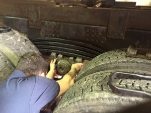fitting new scania spring